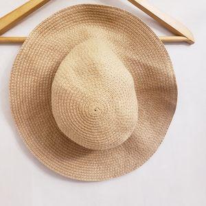 J. Crew Tan Floppy, Wide Brim Straw Hat
